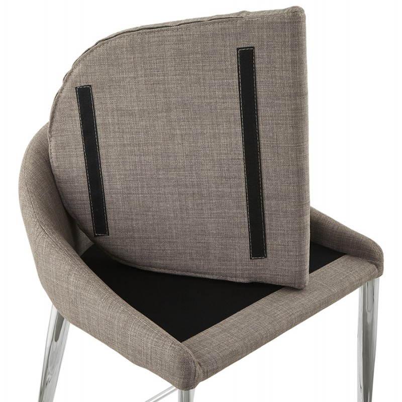 Tabouret mi hauteur design LINDA en tissu (gris) - image 25060