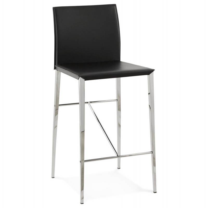 Tabouret mi hauteur design et contemporain nadia noir for Tabouret bar contemporain