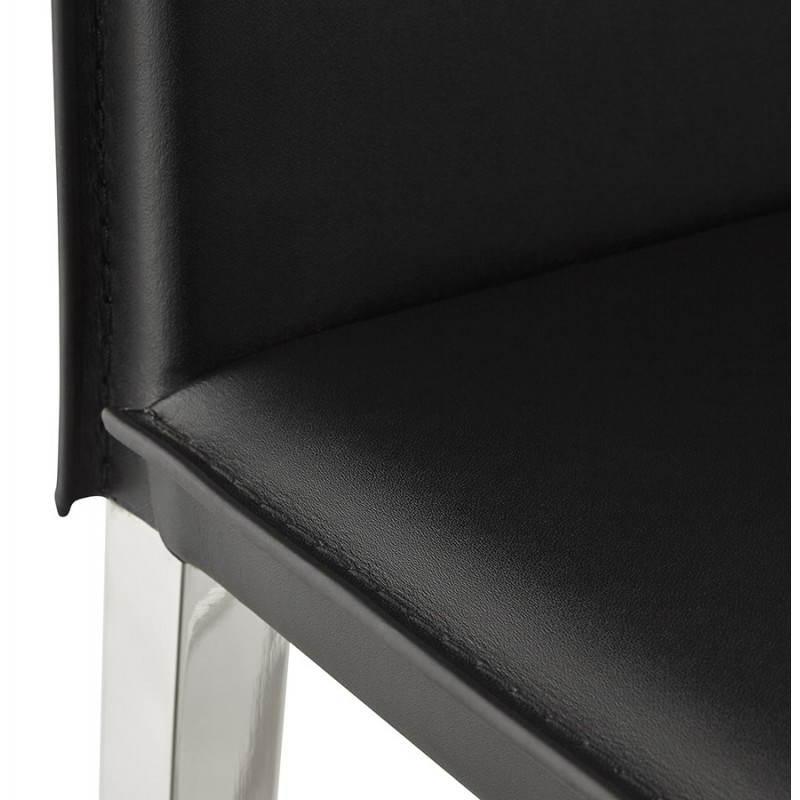 Tabouret mi hauteur design et contemporain NADIA (noir) - image 25075