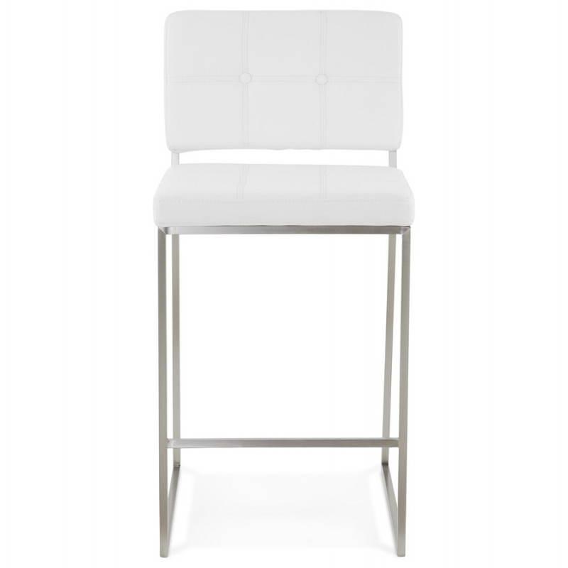 Tabouret mi hauteur design rétro DADY (blanc) - image 25082