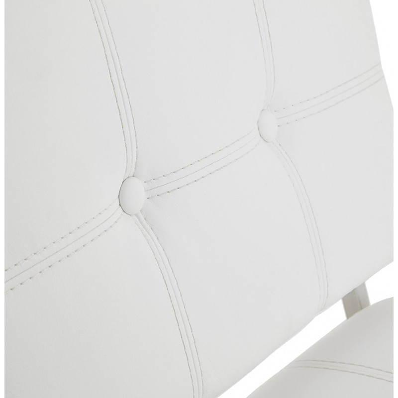 Tabouret mi hauteur design rétro DADY (blanc) - image 25087
