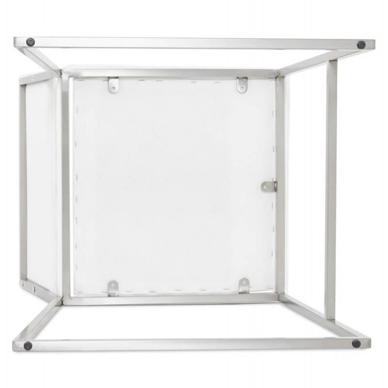 Tabouret mi hauteur design rétro DADY (blanc) - image 25093