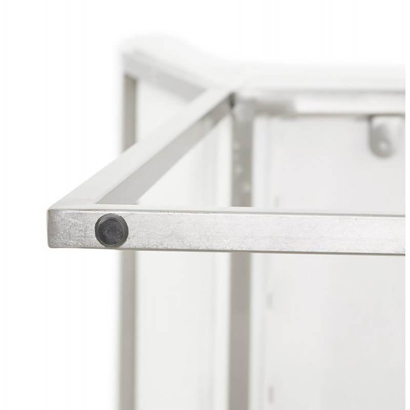 Tabouret mi hauteur design rétro DADY (blanc) - image 25094