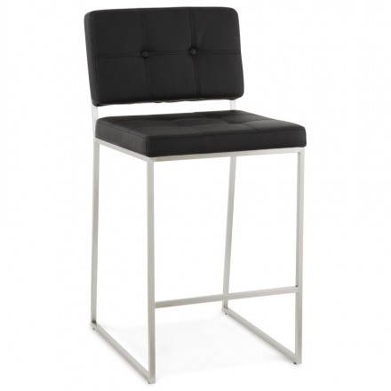 Stool Mi height retro design DADY (black)