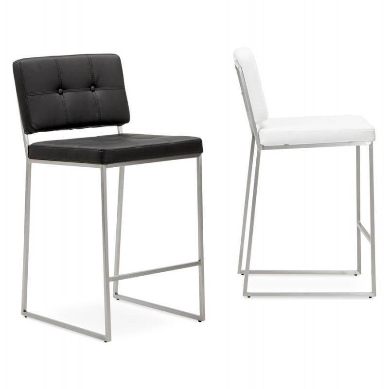 tabouret mi hauteur design r tro dady noir. Black Bedroom Furniture Sets. Home Design Ideas