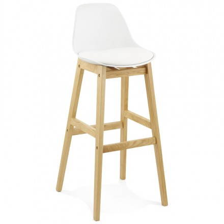 Stool Chair of Scandinavian design bar FLORENCE (white)