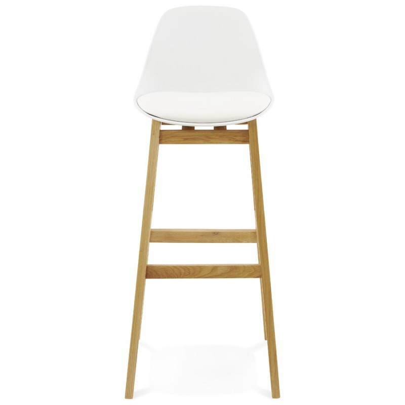 Tabouret chaise de bar design scandinave florence blanc for Chaise tabouret
