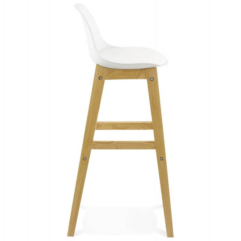 tabouret chaise de bar design scandinave florence blanc. Black Bedroom Furniture Sets. Home Design Ideas