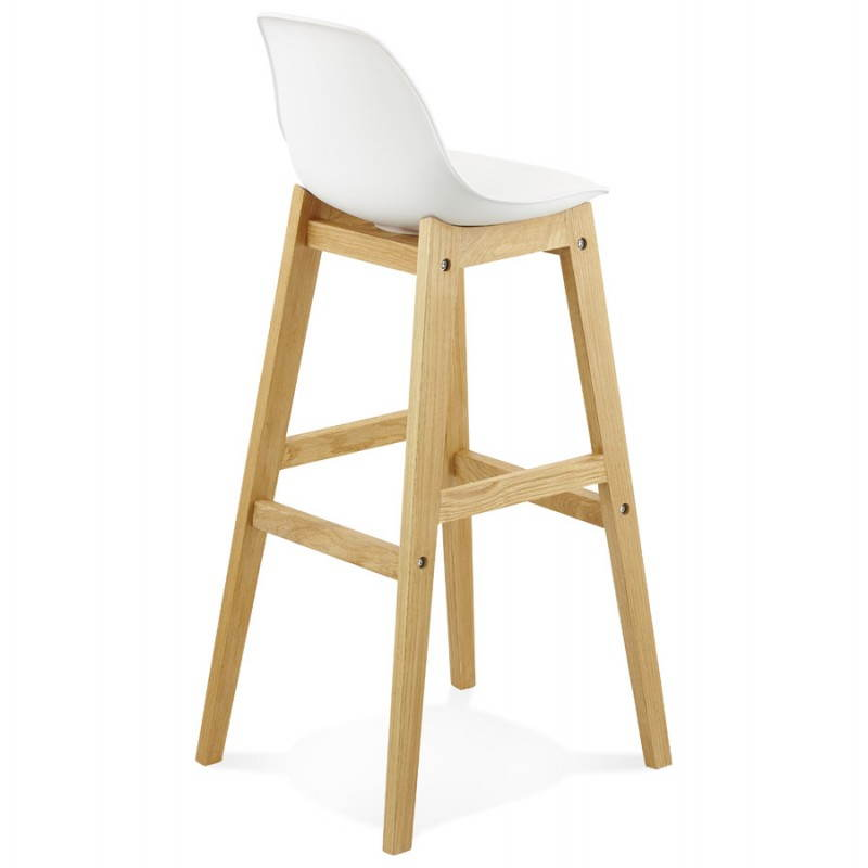tabouret de bar chaise de bar design scandinave florence blanc. Black Bedroom Furniture Sets. Home Design Ideas