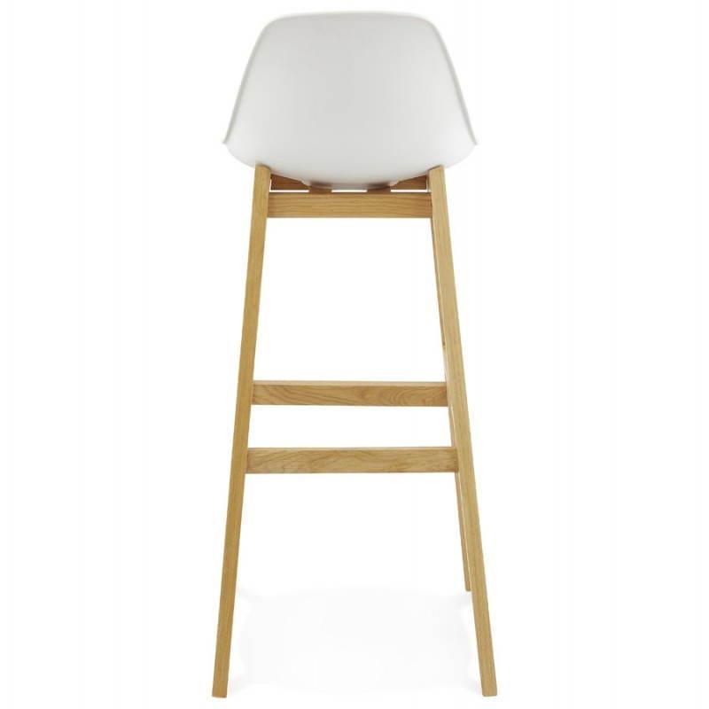 chaise de bar design scandinave florence (blanc)