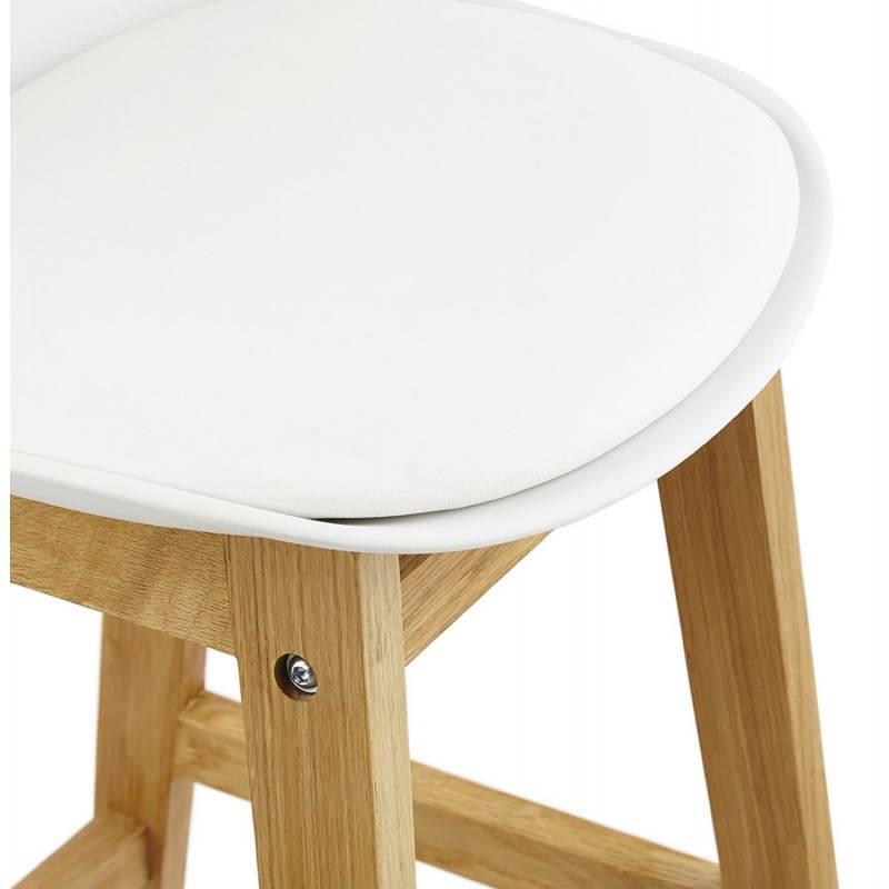 Tabouret de bar chaise de bar design scandinave FLORENCE (blanc) - image 25152