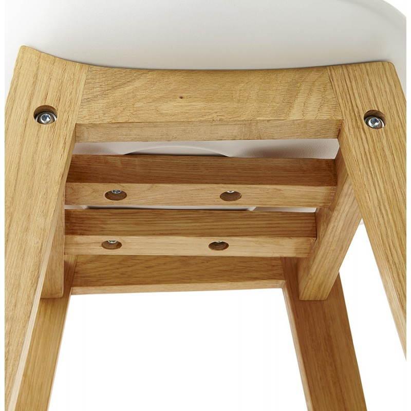 Tabouret de bar chaise de bar design scandinave FLORENCE (blanc) - image 25156