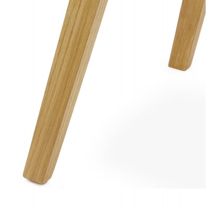 Tabouret de bar chaise de bar design scandinave FLORENCE (blanc) - image 25160