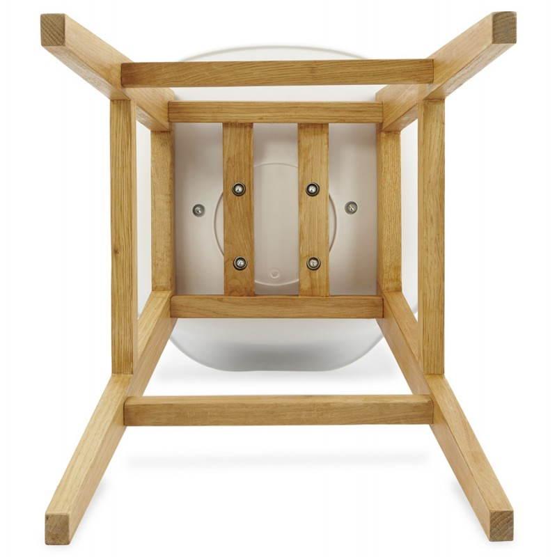 Tabouret de bar chaise de bar design scandinave FLORENCE (blanc) - image 25162