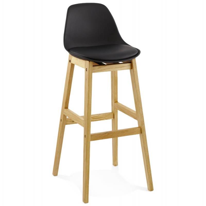 Tabouret de bar chaise de bar design scandinave FLORENCE (noir) - image 25164