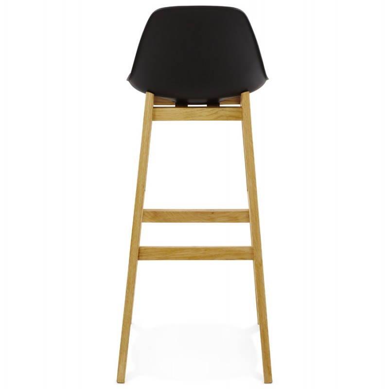 Tabouret de bar chaise de bar design scandinave FLORENCE (noir) - image 25172