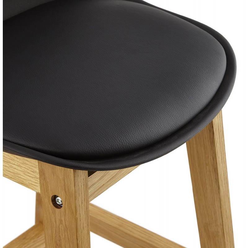 Tabouret de bar chaise de bar design scandinave FLORENCE (noir) - image 25176