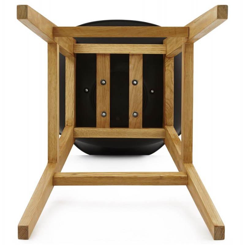 Tabouret de bar chaise de bar design scandinave FLORENCE (noir) - image 25186