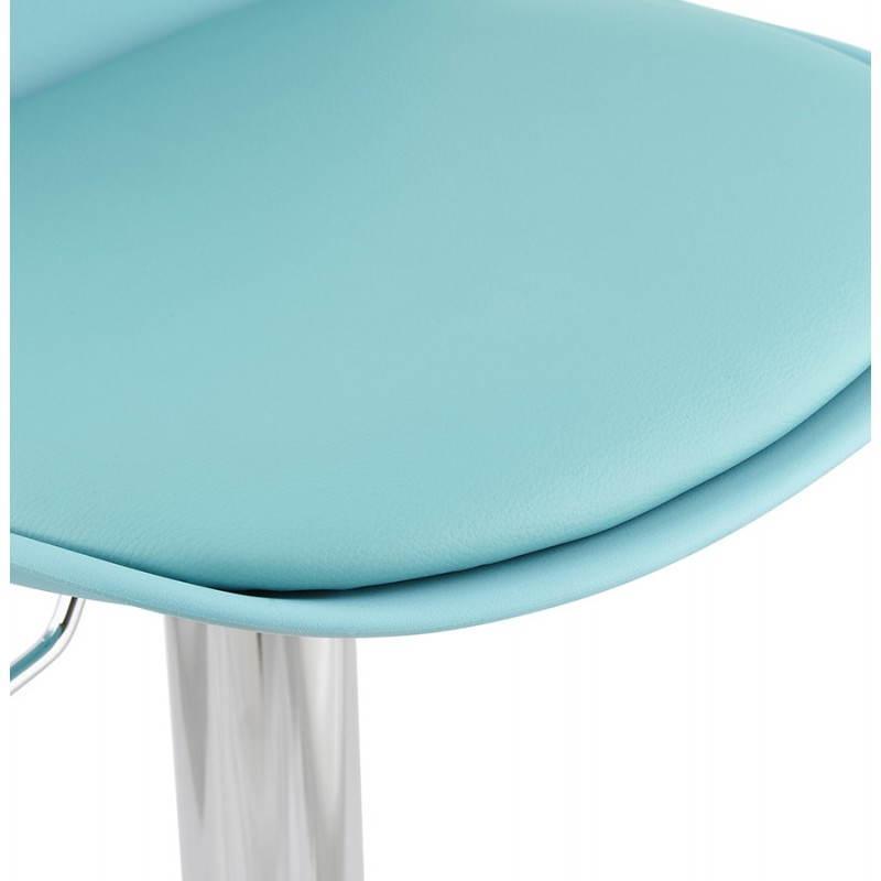 Tabouret de bar design et compact ROBIN (bleu) - image 25206