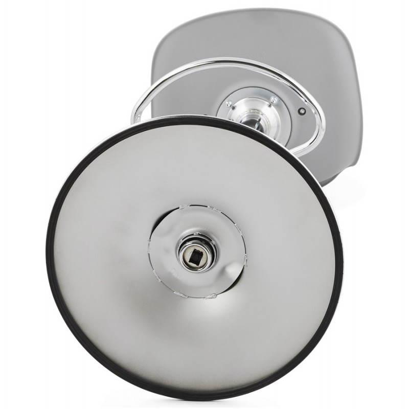 Tabouret de bar design et compact ROBIN (gris) - image 25355