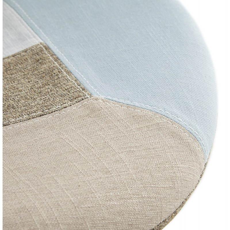 Chaise patchwork style scandinave BOHEME en tissu (bleu, gris, beige) - image 25363