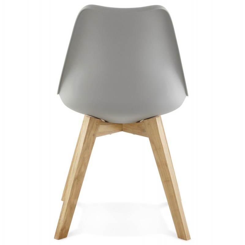 Moderno estilo de silla escandinava SIRENE (gris) - image 25374
