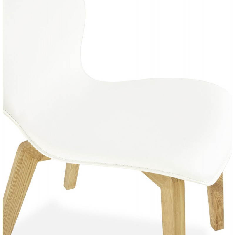 Chaise vintage style scandinave MARTY (blanc) - image 25387