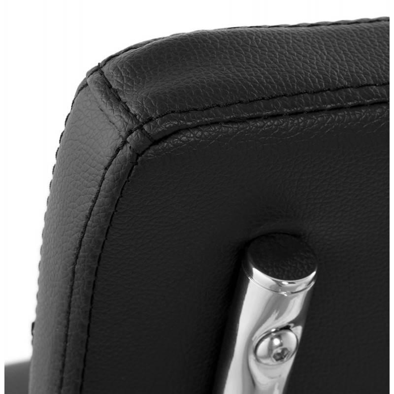 Chaise design capitonnée BONOU en polyuréthane (noir) - image 25402