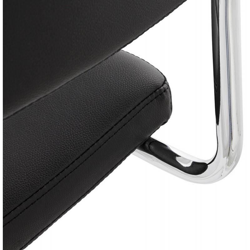 Chaise design capitonnée BONOU en polyuréthane (noir) - image 25403