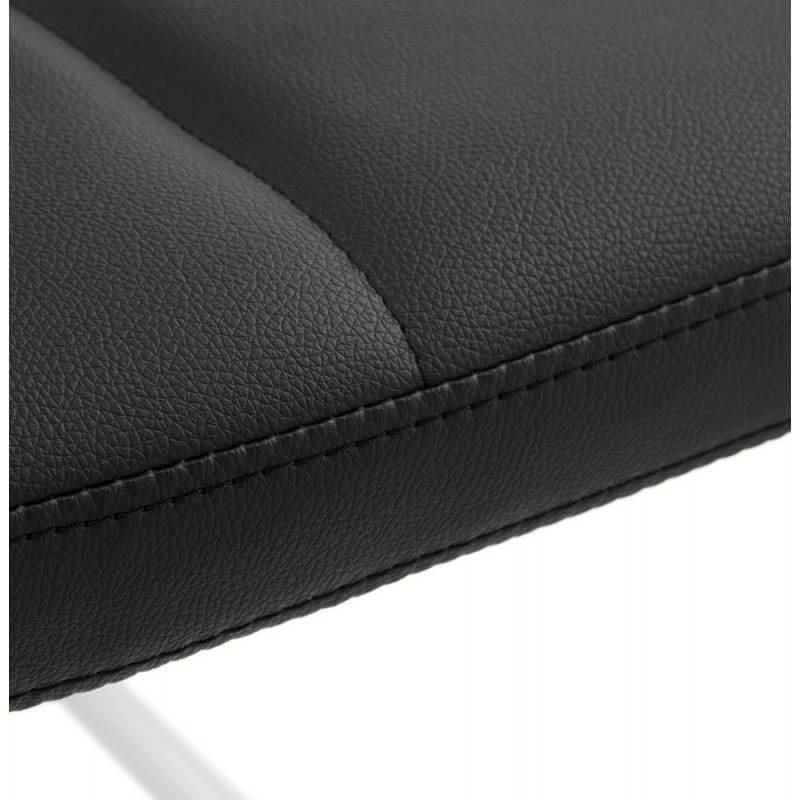 Chaise design capitonnée BONOU en polyuréthane (noir) - image 25405