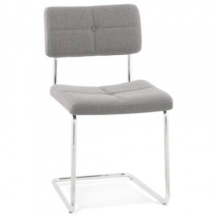 (Light grey) fabric padded design chair bla bla bla