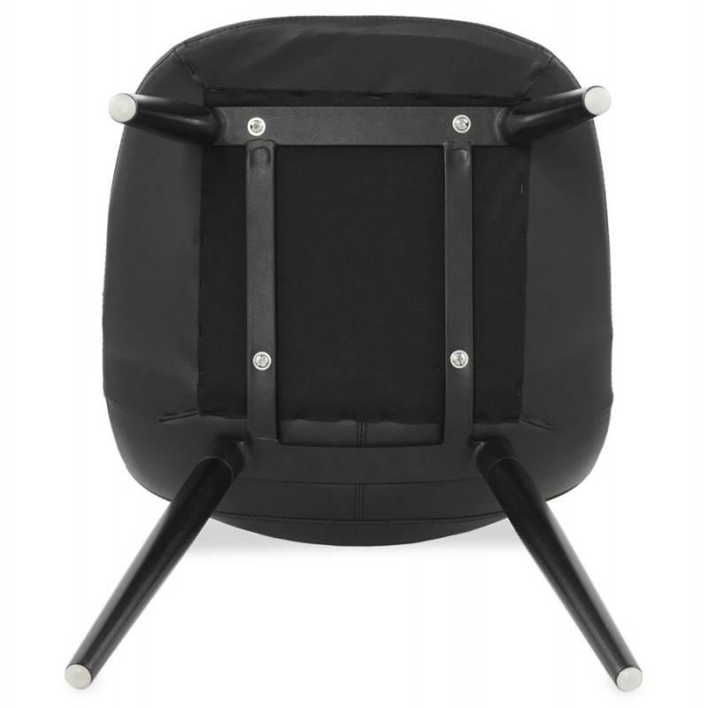 Chaise design contemporaine LOLA (noir) - image 25452