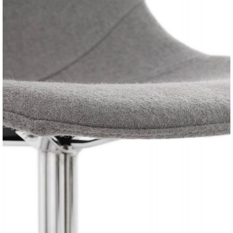 Silla de diseño contemporáneo OFEN en tela (gris) - image 25461