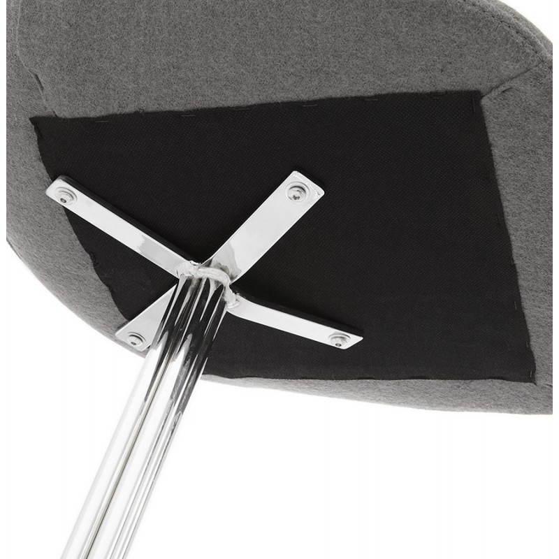 Silla de diseño contemporáneo OFEN en tela (gris) - image 25465