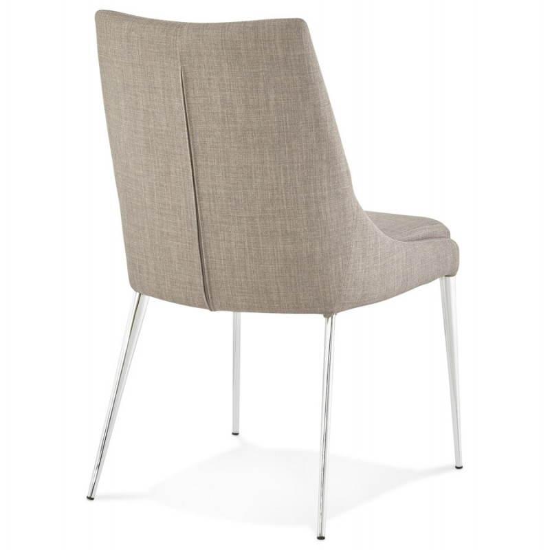 Chaise design rétro VALOU en tissu (gris) - image 25470
