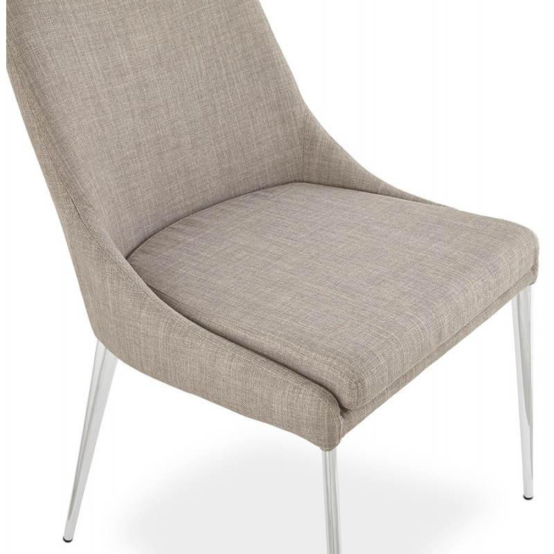Chaise design rétro VALOU en tissu (gris) - image 25472