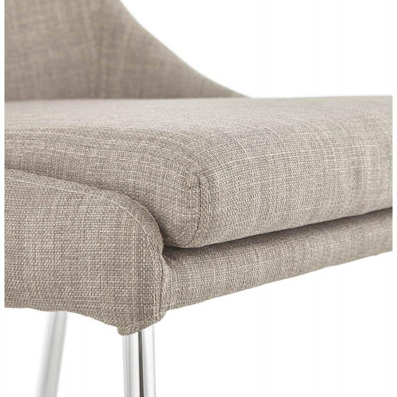chaise design r tro valou en tissu gris. Black Bedroom Furniture Sets. Home Design Ideas