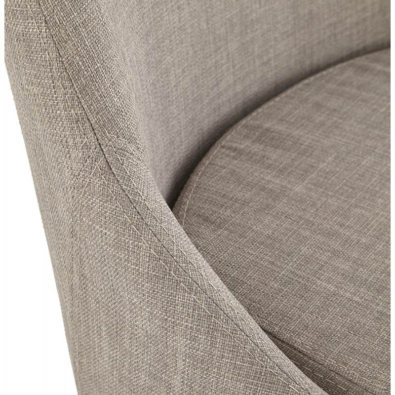 Chaise design rétro VALOU en tissu (gris) - image 25477