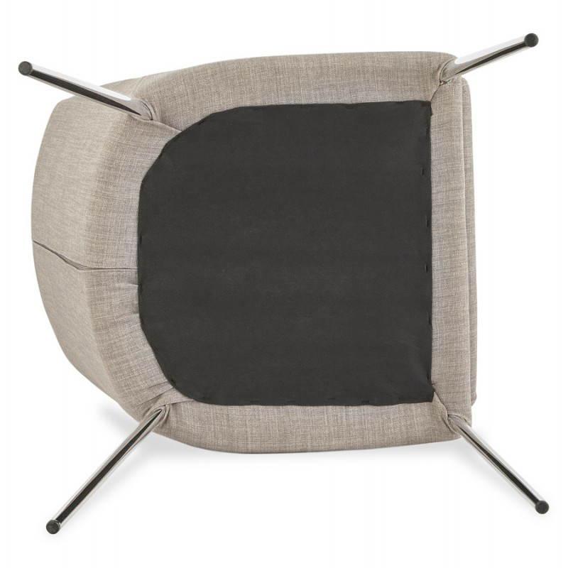 Chaise design rétro VALOU en tissu (gris) - image 25481
