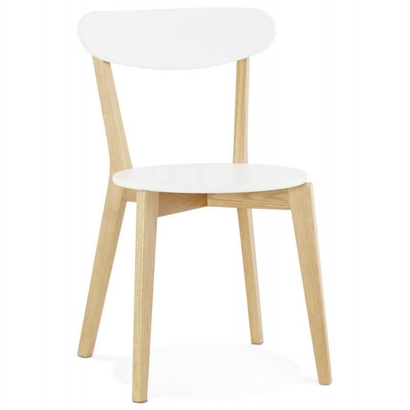 Chaise design style scandinave SCANDI en bois (blanc) - image 25498