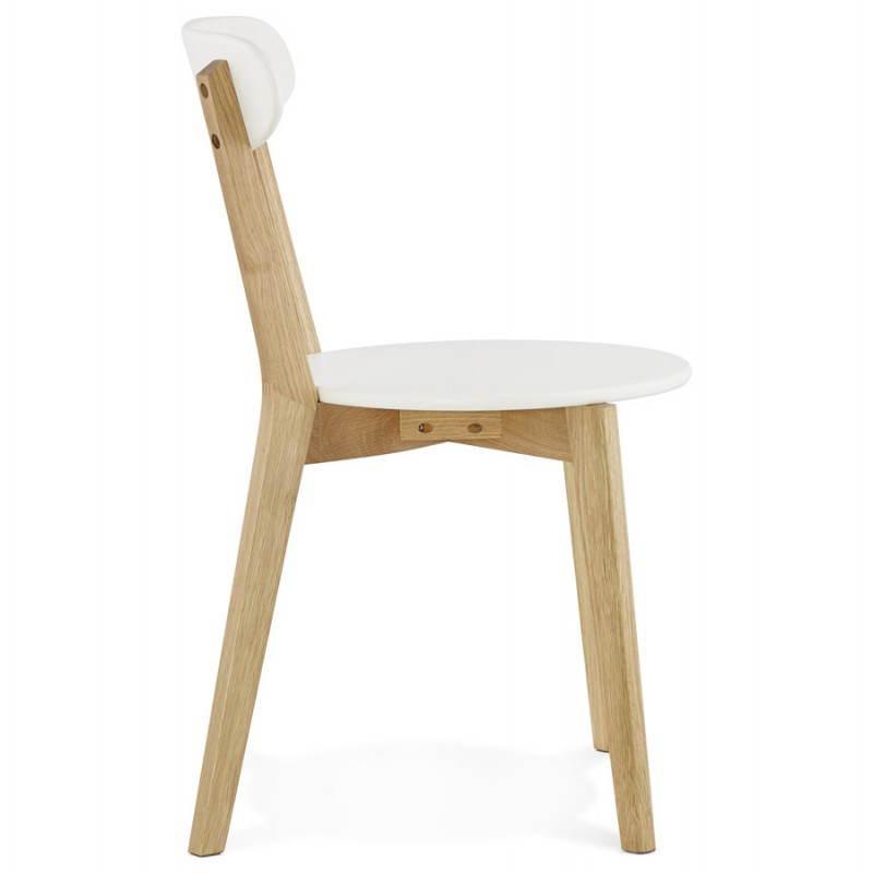 Chaise design style scandinave SCANDI en bois (blanc) - image 25500