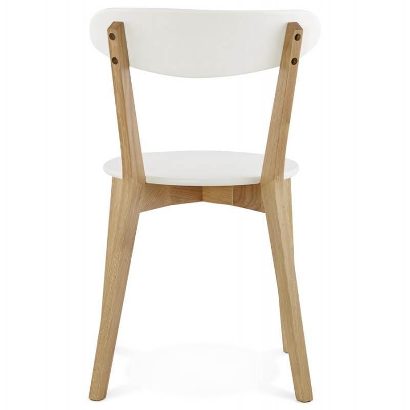 Chaise design style scandinave SCANDI en bois (blanc) - image 25502