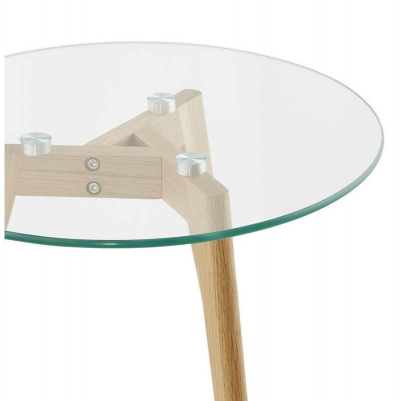 Coffee tables design pull-out ART in glass and oak (transparent) - image 25515