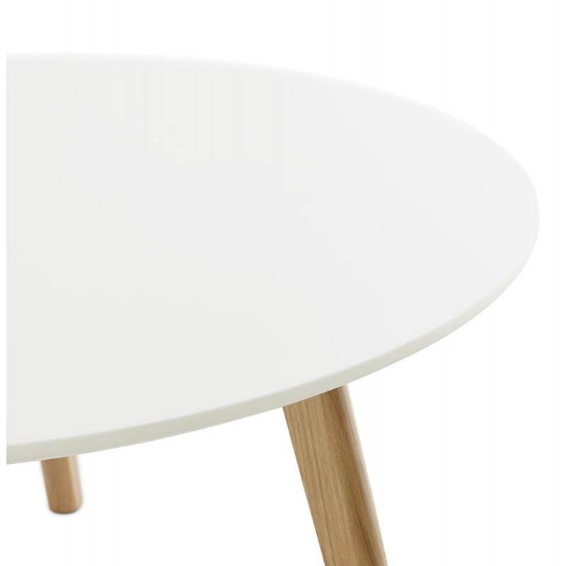 Table basse scandinave TAROT en bois et chêne massif (blanc) - image 25554