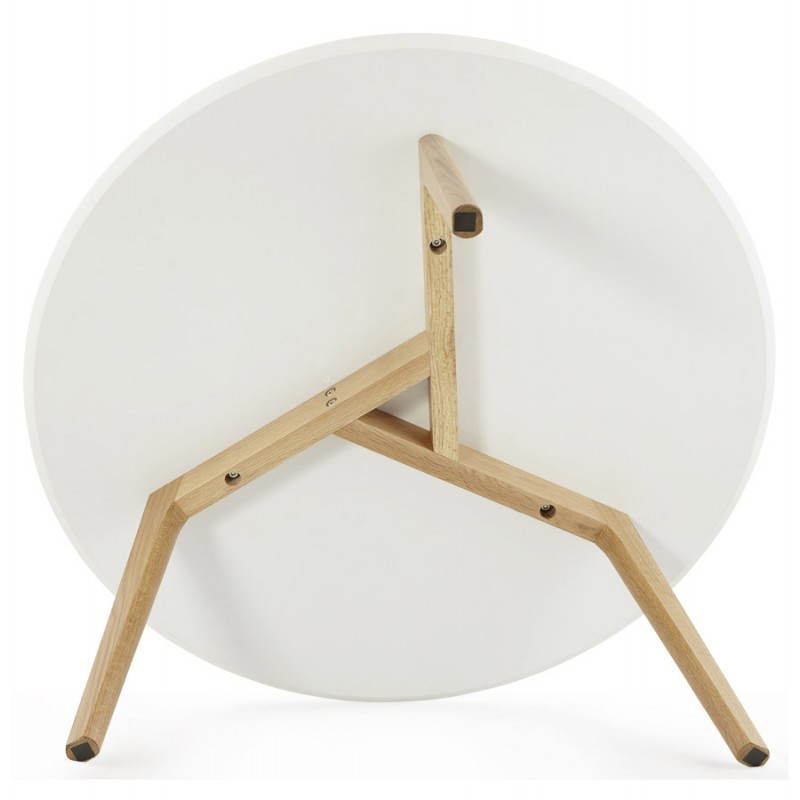 Table basse scandinave TAROT en bois et chêne massif (blanc) - image 25560