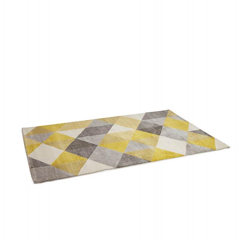 Tapis design style scandinave rectangulaire GEO (230cm X 160cm) (jaune, gris, beige) - image 25581