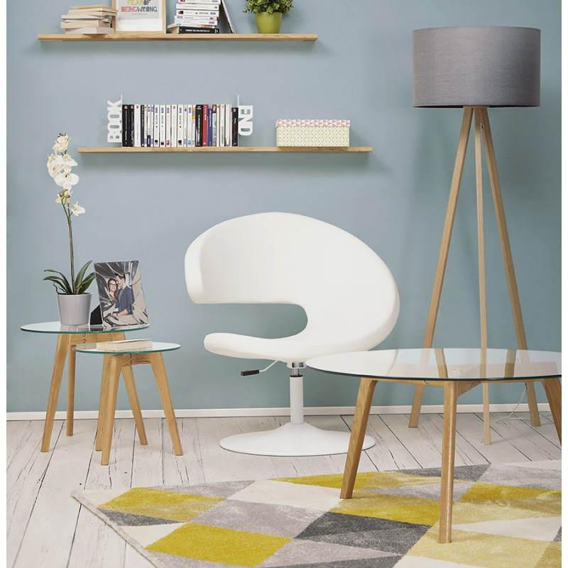 Tapis design style scandinave rectangulaire GEO (230cm X 160cm) (jaune, gris, beige) - image 25598