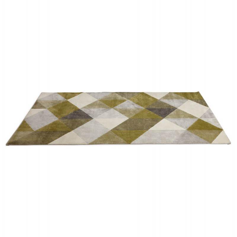 teppich design rechteckig skandinavischen stil geo 230cm x 160cm gr n grau beige. Black Bedroom Furniture Sets. Home Design Ideas