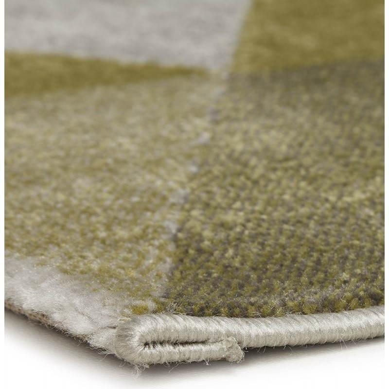 Tapis design style scandinave rectangulaire GEO (230cm X 160cm) (vert, gris, beige) - image 25715