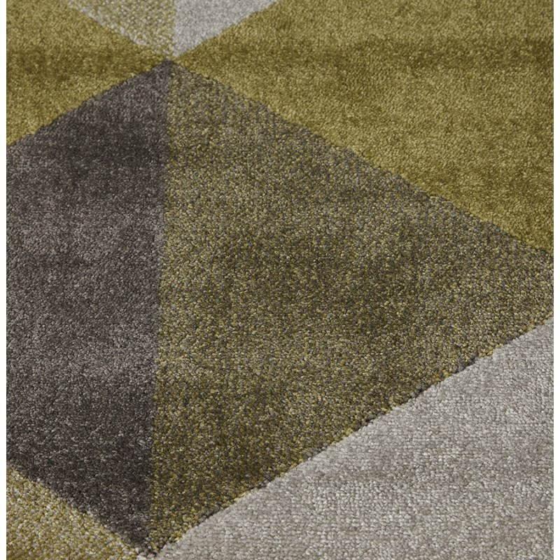 Tapis design style scandinave rectangulaire GEO (230cm X 160cm) (vert, gris, beige) - image 25716